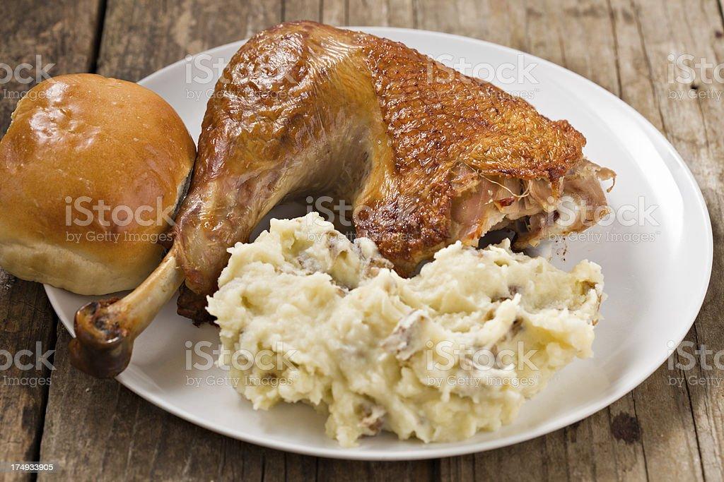 Kid's Turkey Meal stock photo