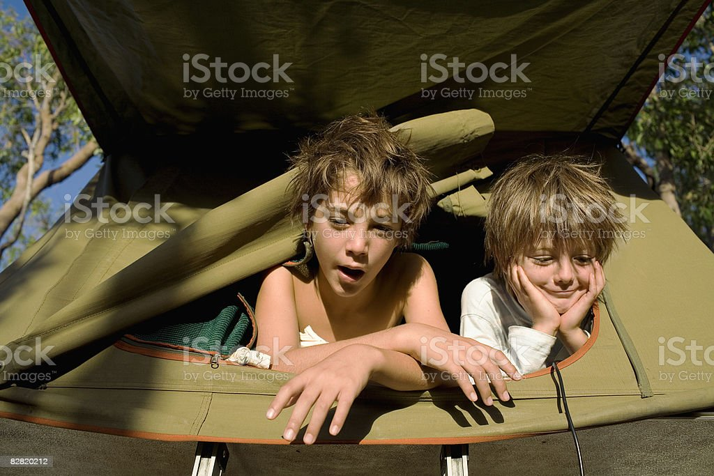 kids wake-up foto stock royalty-free