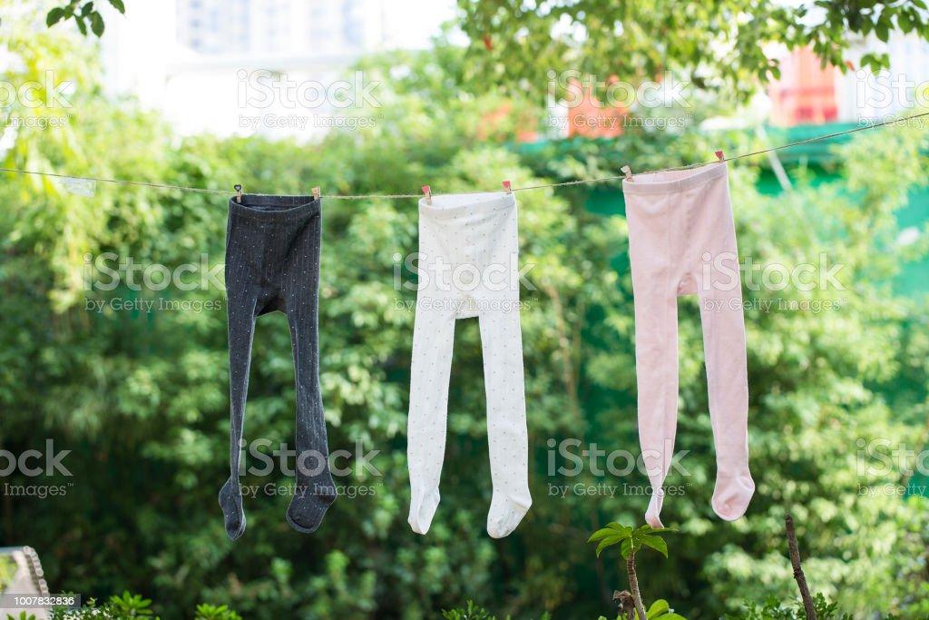 4aee3496dae Kids Wearing Colorful Rainbow Socks Children Footwear Collection ...