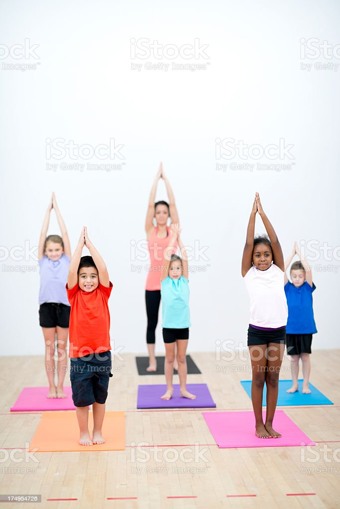 Kids Yoga royalty-free stock photo