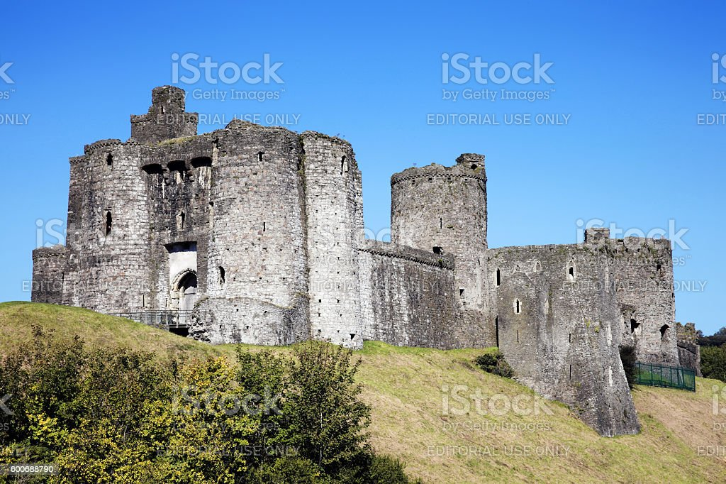Kidwelly Castle, Wales stock photo