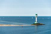 Kieler Förde - Germany Baltic sea Kiel - Lighthouse Friedrichsort
