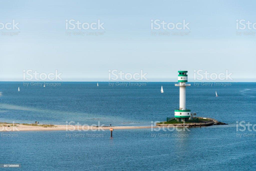 Kieler Förde - Germany Baltic sea Kiel - Lighthouse Friedrichsort stock photo