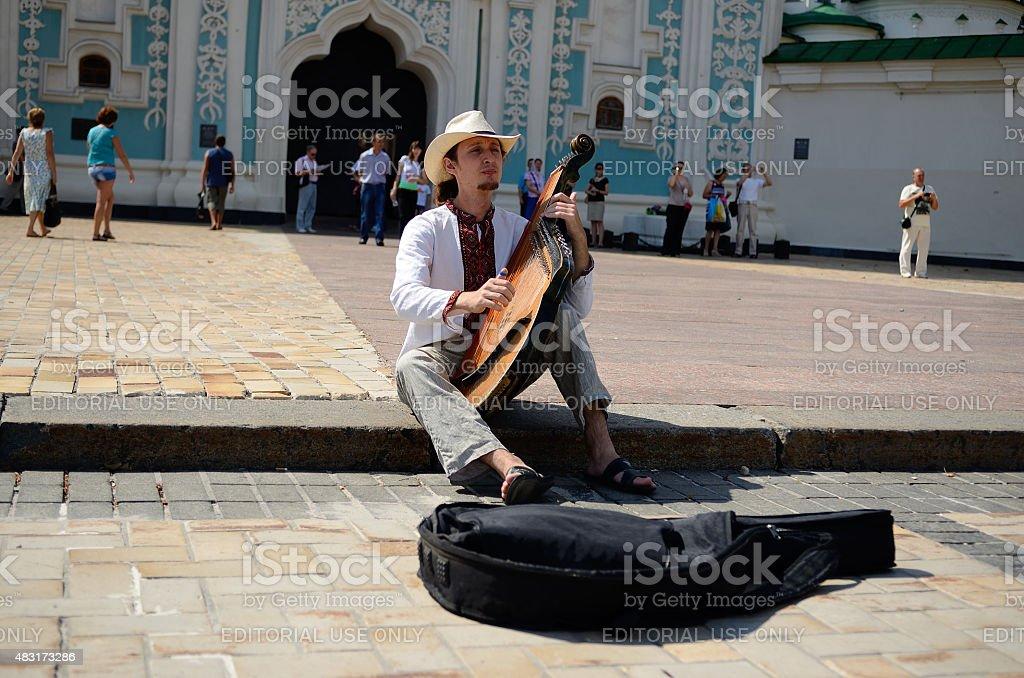 Киев busker стоковое фото