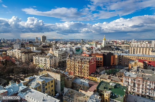istock Kiev city day view, panorama Kiev, Ukraine 622892200