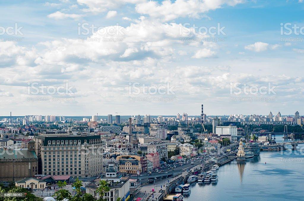 Ciudad de Kiev foto de stock libre de derechos