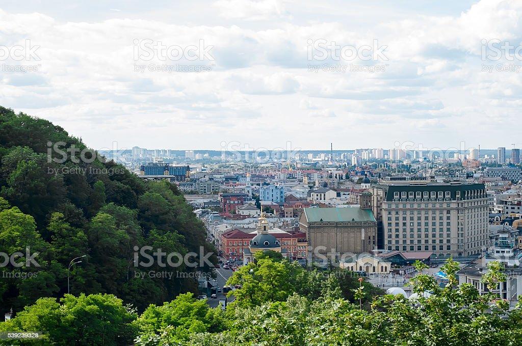 Kiev cityscape royalty-free stock photo
