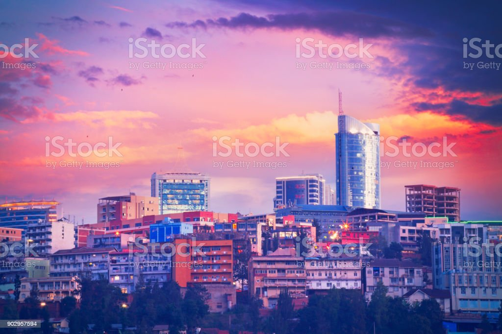 Kigali cityscape stock photo