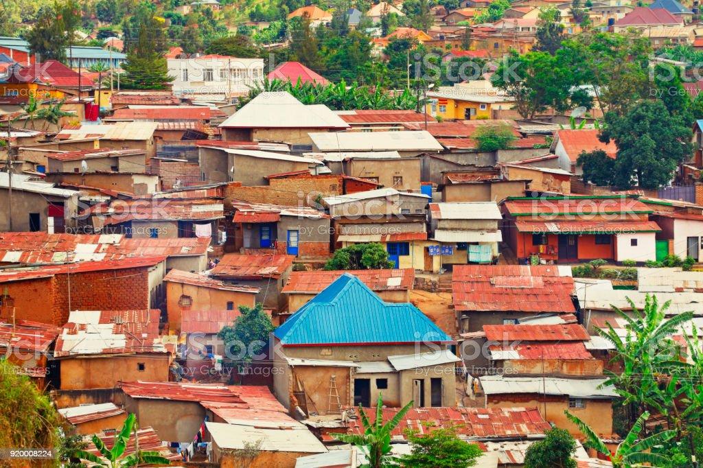 Kigali suburb stock photo
