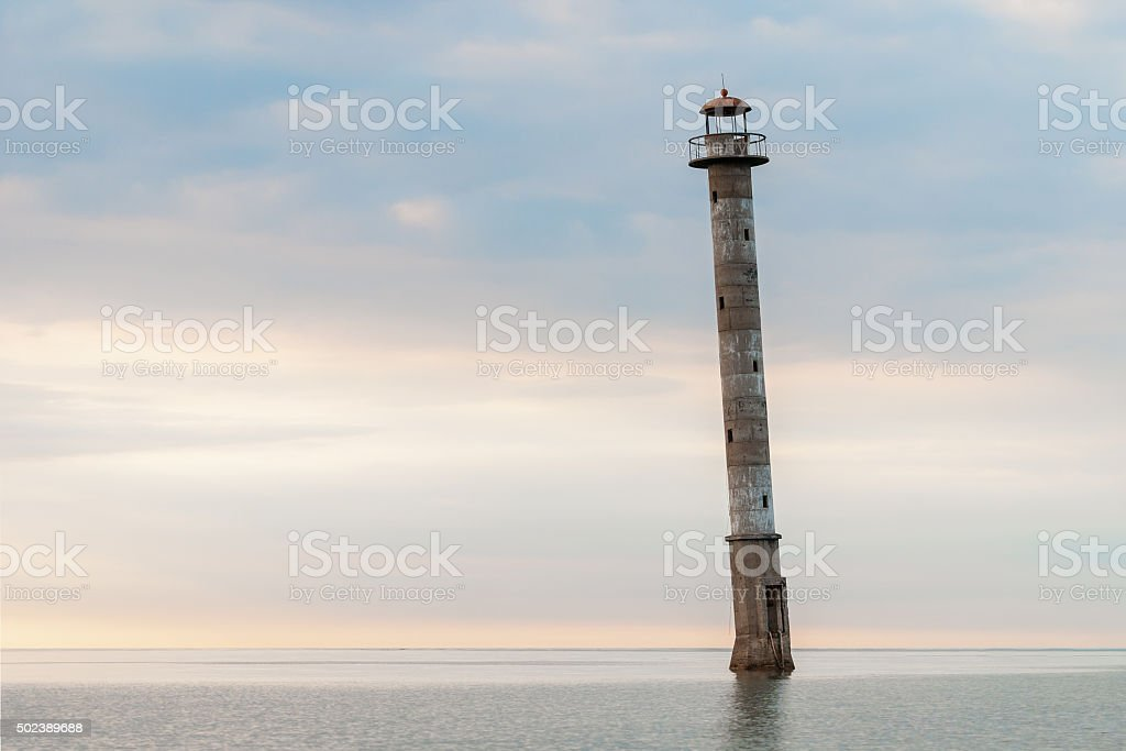 Kiipsaare Lighthouse in Saaremaa, Estonia stock photo