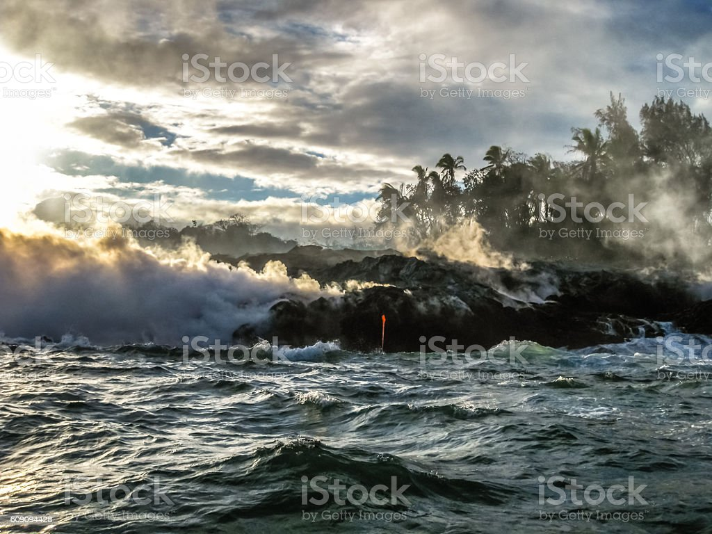 Kilauea Big Island stock photo