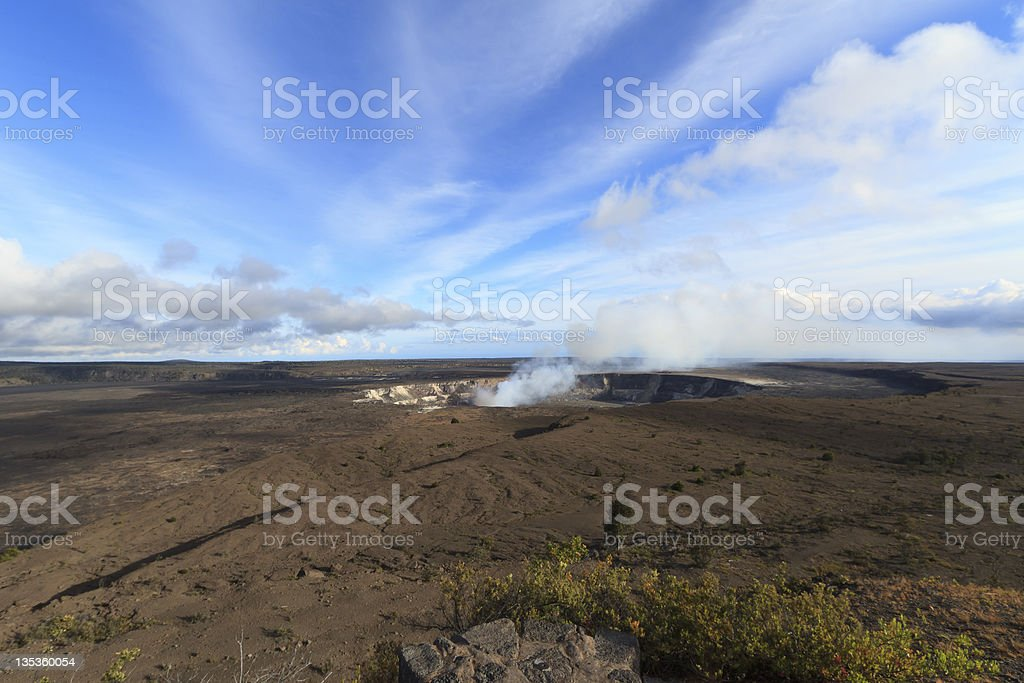 Kilauea Caldera stock photo