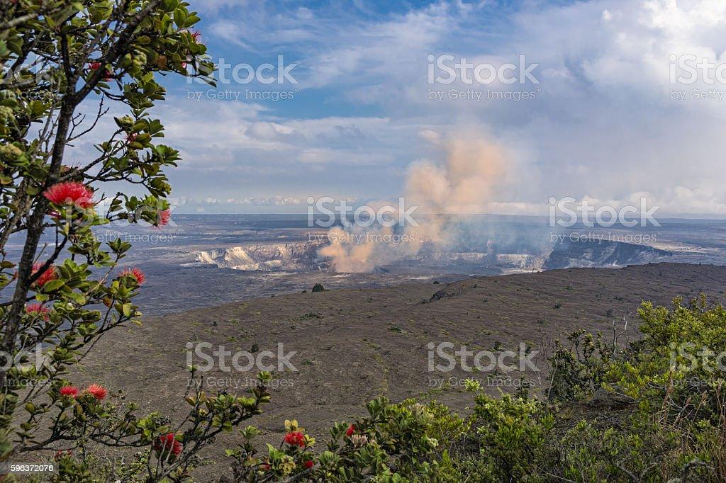Kilauea Caldera Volcano on the Big Island Hawaii stock photo