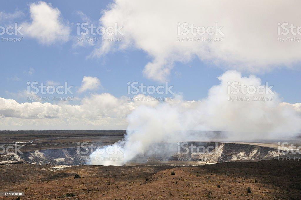 Kilauea Crater, Big Island stock photo