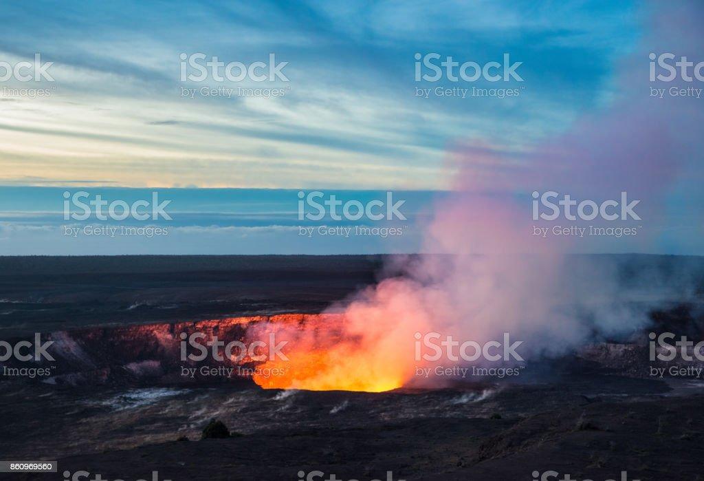 Kilauea Crater, Hawaii Volcanoes National Park, Big Island stock photo
