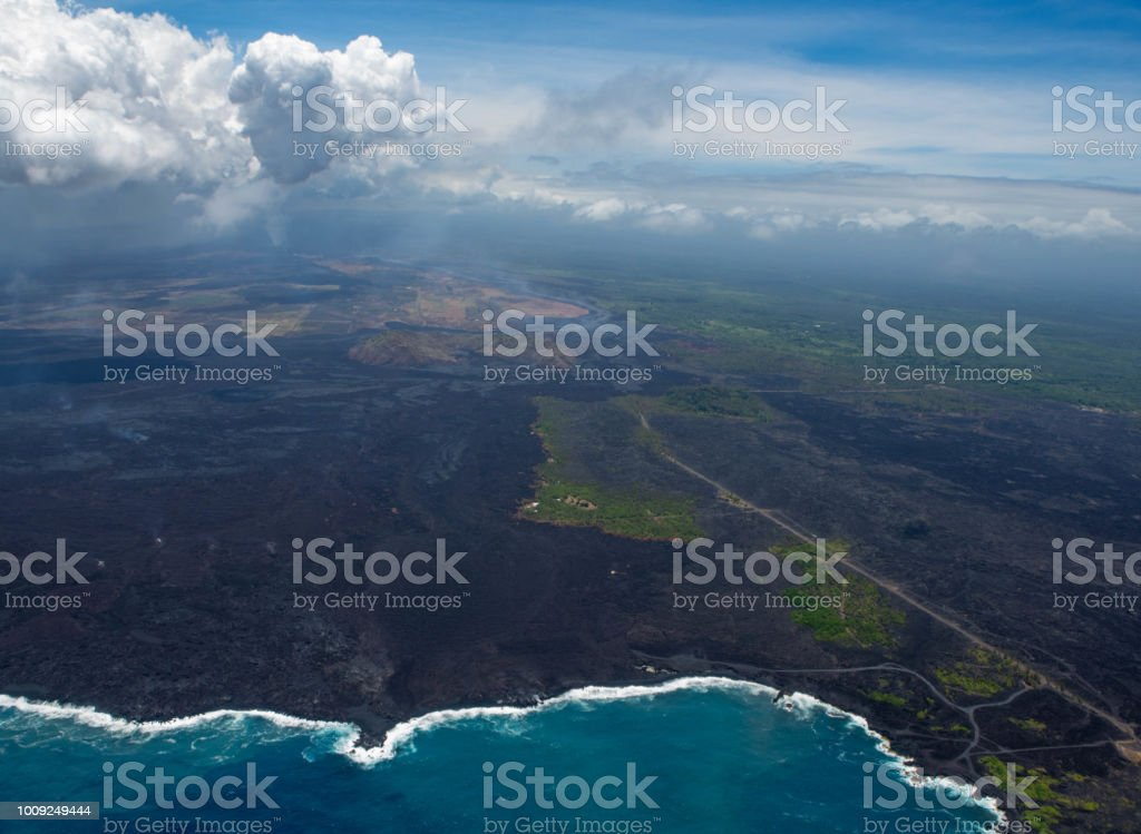 Kilauea Eruption stock photo