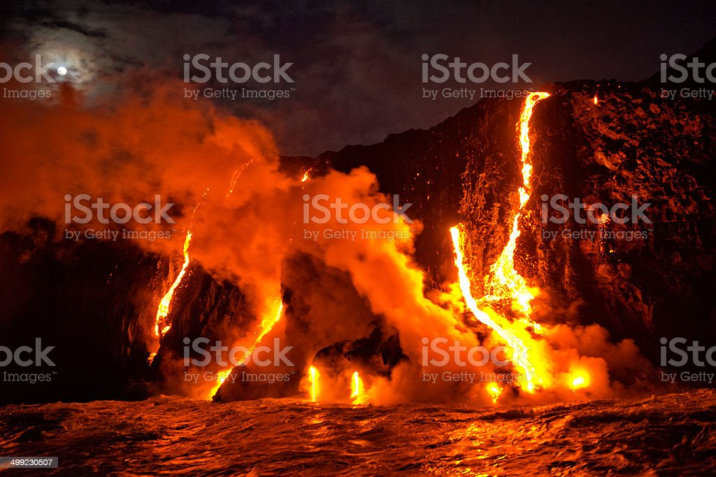 Kilauea Eruption stock photo