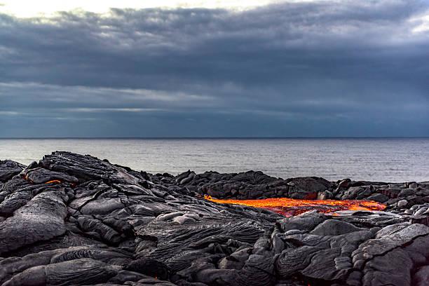 Kilauea lava pool stock photo