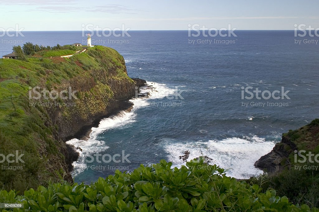 Kilauea Lighthouse on Kauai Island, Hawaii stock photo