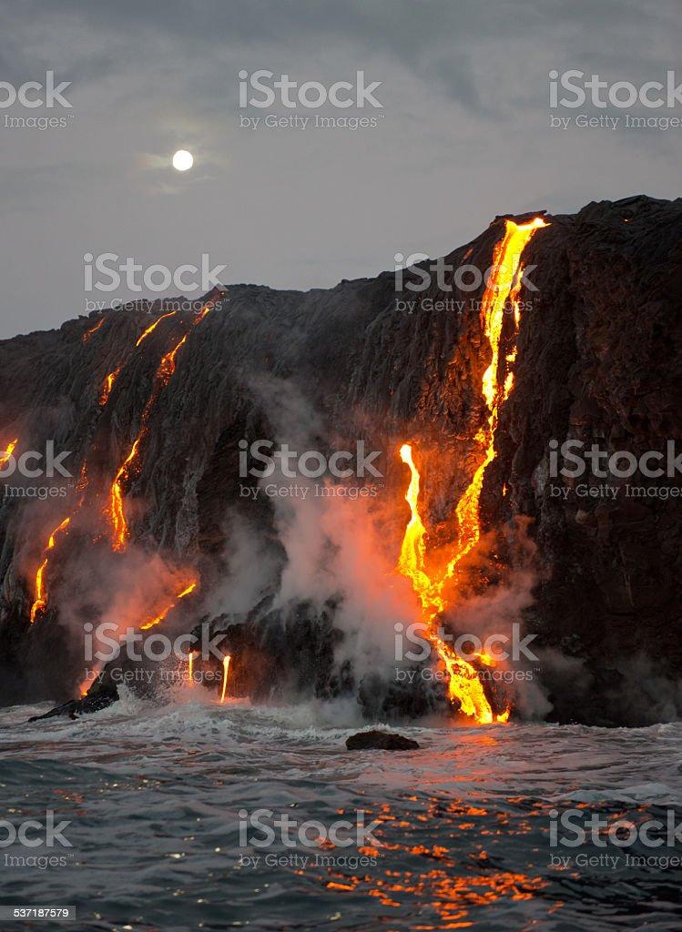 Kilauea Volcano Eruption stock photo