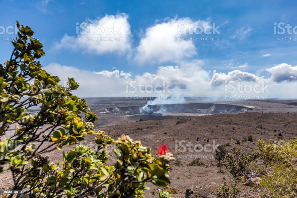 Kilauea volcano, Halema'uma'u Crater, hawaii islands foto stock royalty-free