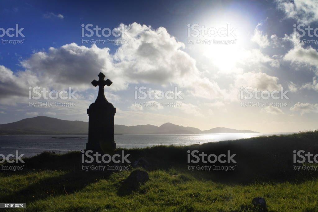 Kilcatherine Cemetery, County Cork, Ireland. stock photo