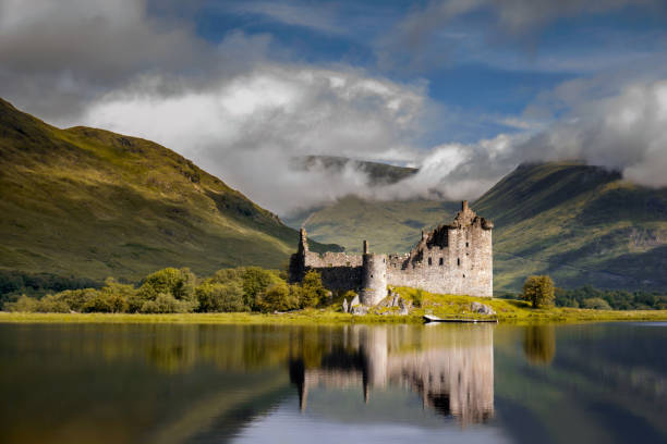 Kilchurn Castle sunrise stock photo