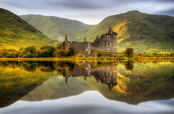 Kilchurn sunset - foto de stock