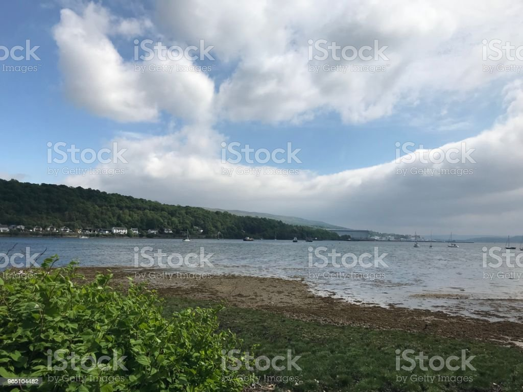 Kilcreggan on a Cloudy Summer Day royalty-free stock photo