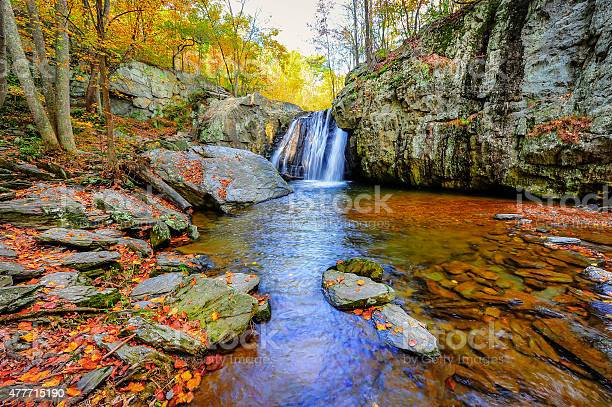 Photo of Kilgore Falls in Maryland in Autumn
