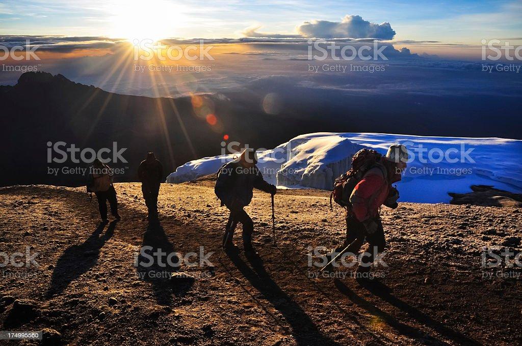 Kilimanjaro Climbers royalty-free stock photo