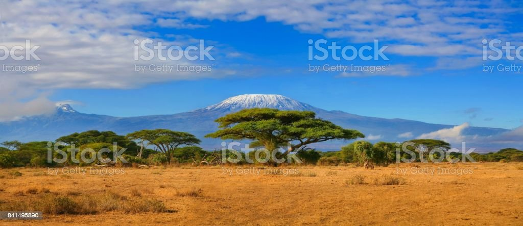Kilimanjaro Mountain Tanzania Travel Africa stock photo