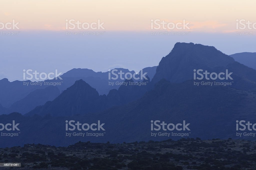 Kilimanjaro , on the Shira Plateau stock photo