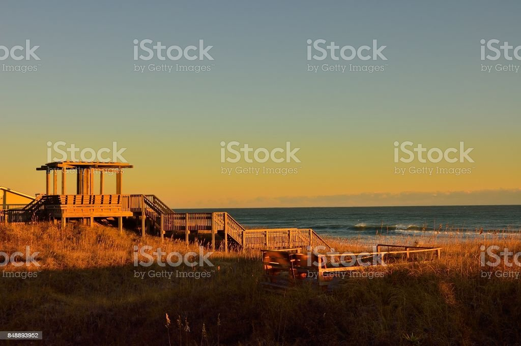 Kill Devil Beach Observation Deck stock photo