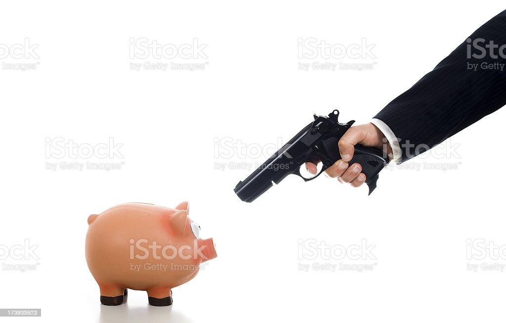 Kill Pig royalty-free stock photo