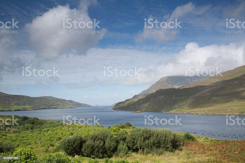 Killary Fjord Lake; Leenane, Connemara; Galway zbiór zdjęć royalty-free