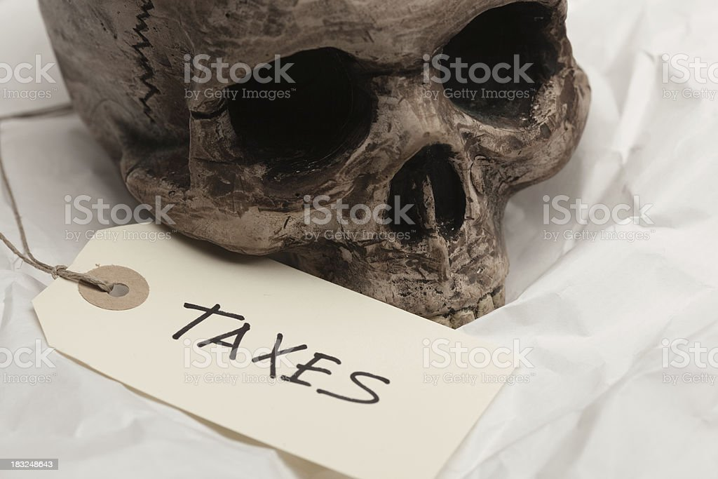 killed by taxes royalty-free stock photo