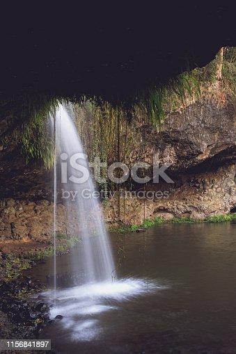 Killen Falls, a pristine waterfalls in the Byron Bay hinterland in NSW, Australia