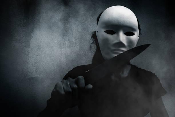 mörder-clown - hackmesser stock-fotos und bilder