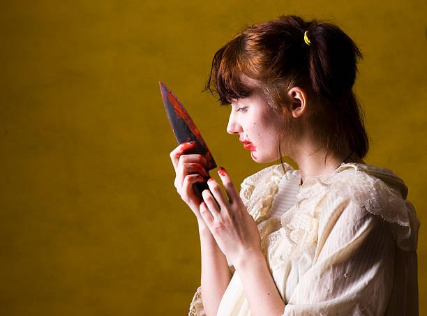 Killer girl stock photo