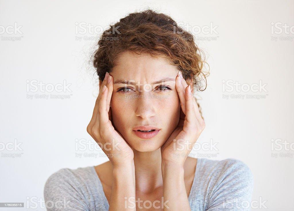Killer headache stock photo