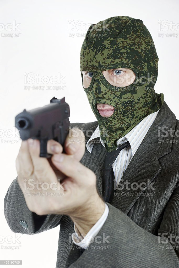 Киллер в маске с пистолетом прикольные картинки