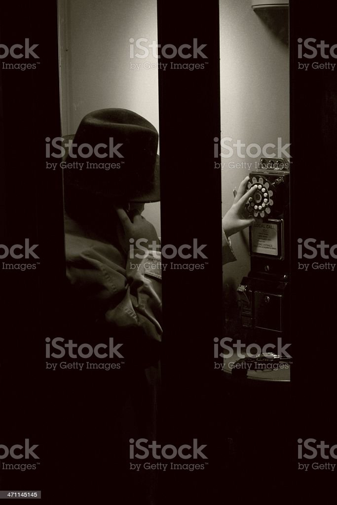 Killer On The Phone stock photo