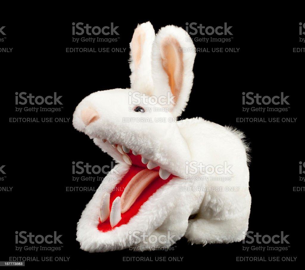 killer rabbit from monty pythons holy grail movie stock
