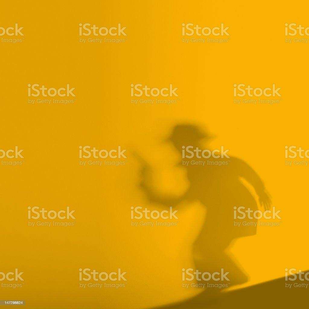 killer shadow stock photo