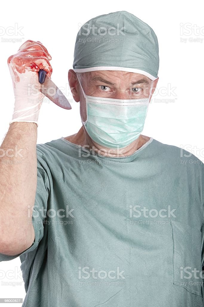 Killer Surgeon royalty-free stock photo