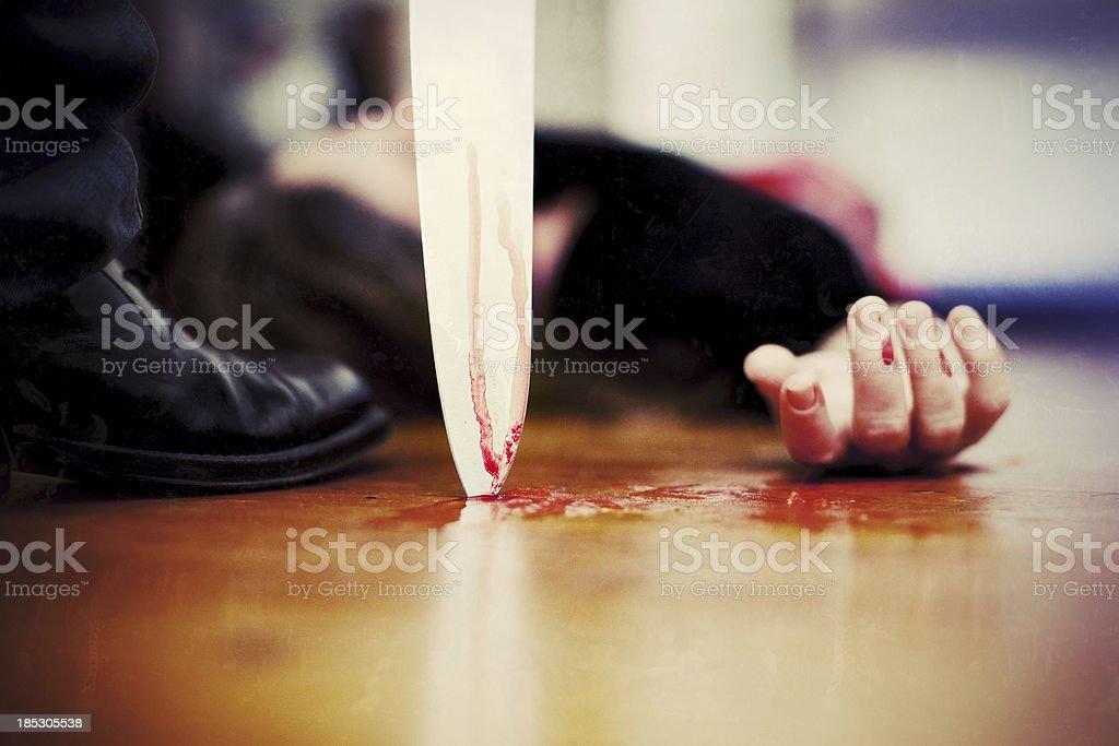 Killing scene stock photo