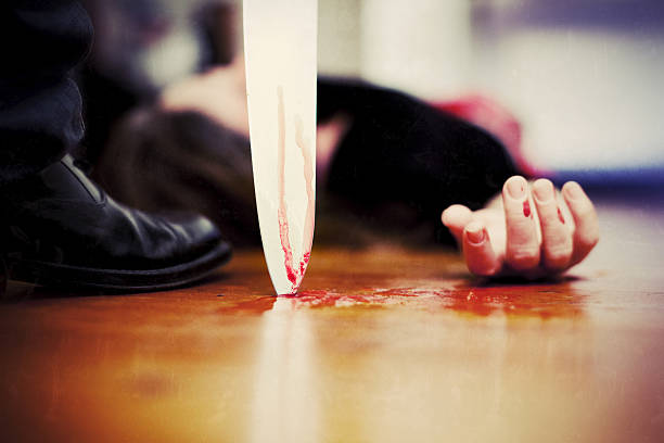 Killing scene stock photo