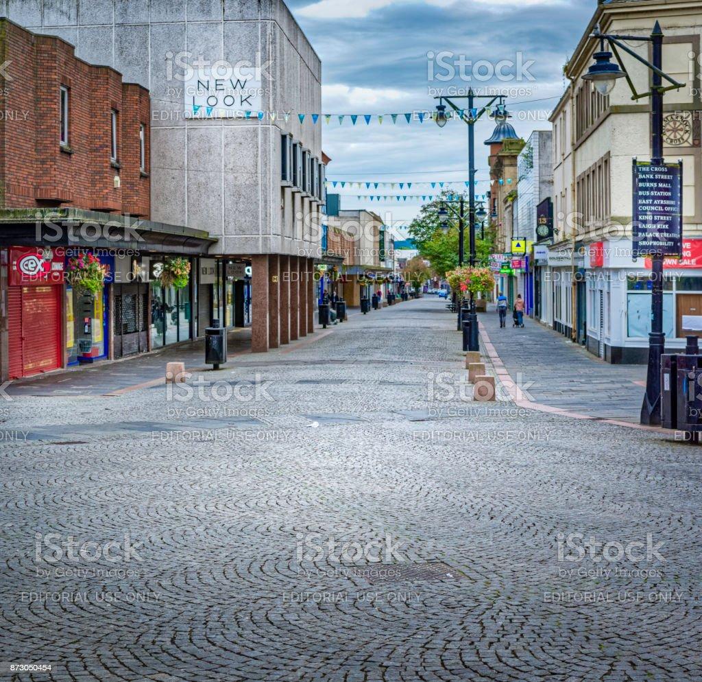 Kilmarnock Precinct, stock photo