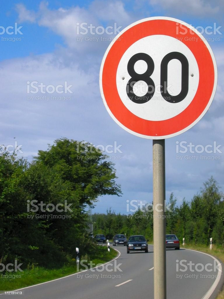 80 Kilometers only stock photo